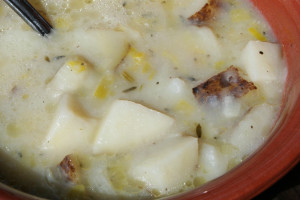 Potato, Leek, and Thyme Soup